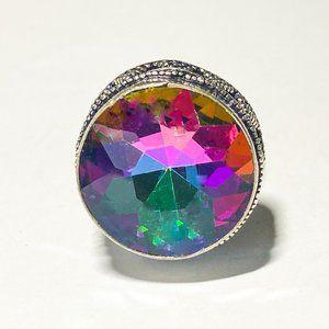 AAA Mystical Topaz n Vintage-Style Ring (7.5)